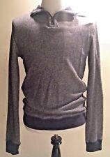 Vtg GAP Men's Pull Over Collar Shirt Size Medium M 1/4 Zip Gray Grey EUC Vintage
