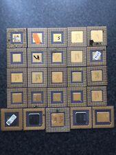 25 CPU Keramik/Intel 486 + Intel Pentium/Pc Computer Recycling  Schrott Gold