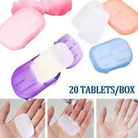 20pcs / Boîte à savon jetable à laver à la main de papier de savon m FE