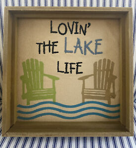 Wooden Rectangle Lake Home Décor Hanging Signs For Sale In Stock Ebay