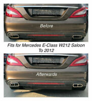 Chrome Exhaust Pipe Cover Trim Decor Mercedes E-Class W212 Saloon To 2012 (212
