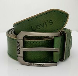 Levi'sSize is 46 Inch Green Texture Color GenuineLeather Men's Belt P01 2021
