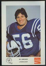 1981 Coke Premiums Baltimore Colts - Ed Simonini, Texas A&M, Portsmouth VA