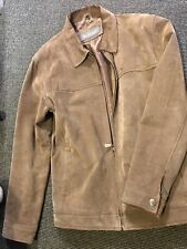 Genuine Leather Ben Sherman Suede/Leather Men's Brown Jacket Size Small