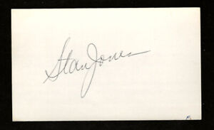 Stan Jones Autographed 3x5 Index Card - Chicago Bears Hall of Famer