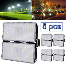 5Pcs 200W Led Flood Light Outdoor Security Garden Yard Spot Warm White Lamp Sale