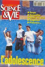 Science et vie n°188 - 1994 - L'Adolescence - Corps - Sexualité - Angoisse -