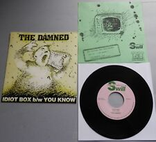 """The Damned - Idiot Box USA 1985 Swill 7"""" Single Pink Label Green Insert"""
