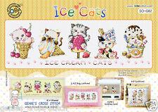 """Ice Cats"" Cross stitch pattern leaflet. Big Chart. SODA SO-G82"