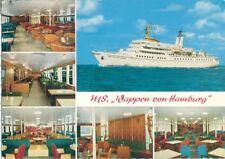 S1883  HAPAG HADAG Seebäderschiffe MS WAPPEN VON HAMBURG Bordstempel 8.6.1968