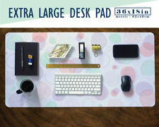 """Pastel Bubbles 36x18"""" - Extra Large Mouse Pad - Mouse Mat - Extended Mouse Pad"""