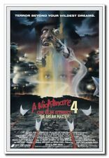 "A Nightmare on Elm Street 4 Freddy 12""x8"" Horror Movie Silk Poster Door Decal"