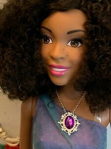 Purple Rhinestone Necklace for 28 inch Barbie (4.25 Inch Neck) or Larger BJDs