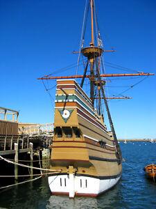 """The Mayflower Ship Historic Replica 11""""x 8-1/2"""" Color Photo"""