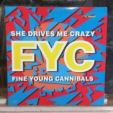 """[Rock/Pop]~Nm 12""""~Fine Young Cannibals~She Drives Me Crazy~[x4 Remixes]~[1989]~"""