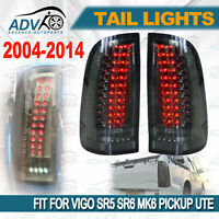 2004-2015 fit for Toyota Hilux Vigo Pickup LED Taillight Black Len Pair Upgrade