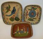 3 Vintage Gorgeous 1940s Tlaquepaque Mexican Pottery Casserole Dishes