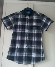 "Topman Short Sleeved Checked Shirt Size ""S""."
