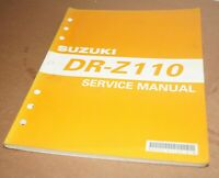 2002 Suzuki DR-Z110 Motorcycle Factory Service Shop Manual 99500-41130-01E