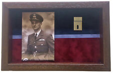 Large Medal Display Case With Photograph, For 2 Medals