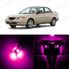 9 x Pink LED Interior Light Package For Mazda Protege 1999 - 2003 + PRY TOOL