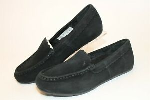 Vionic Suede Loafer Slippers Womens 8.5 Wide 40 McKenzie Comfort Shoes 10010104