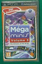 PSP jeu NEUF sous cello scellé MEGA MINIS Volume 3 new sealed PLAYSTATION