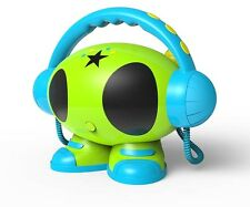 MP3 Karaoke Roboter 2 Mikrofone bg USB Player Recorder Kinder freundlich NEU