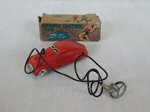 TIN TOY VINTAGE REMOTE CAR CONTROL CHAD VALLEY AUTO