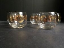 Glass Roman Rome Coin Roly Poly Tumbler Set 5