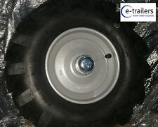 """LEFT 8"""" REAR WHEEL & TYRE FOR Muck-Truck ® POWER-BARROWS- MOTORISED WHEEL BARROW"""