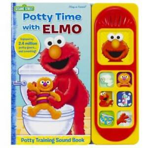 Potty Time with Elmo (Liittle Sound Book) - Hardcover - GOOD