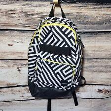Reebok Backpack Zebra Print Abstract Black & White Zig Zag Chevron Neon Zippered