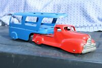 Marx Car Carrier Transport Semi Delivery Truck - pressed steel - USA