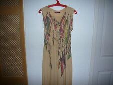 Julie'S Closet Ladies Maxi Dress size M Sand Cream
