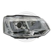 LHD Projector Headlights Pair LED DRL Clear Chrome For VW T5 Multivan 09-15
