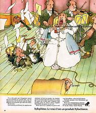 PUBLICITE ADVERTISING 104  1974   XYLOPHENE   traitement du bois