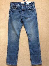 """NEXT Men's Distressed Slim Fit Blue Jeans, Tall Size 32L, W32"""", L33"""", £40"""