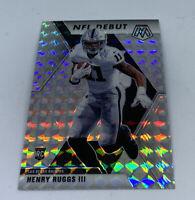 2020 Panini Mosaic Henry Ruggs III Silver Prizm Mosaic NFL Debut Rookie Raiders