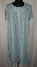Secret Treasures soft, stretchy blue & white floral print nightgown,Plus size 4X