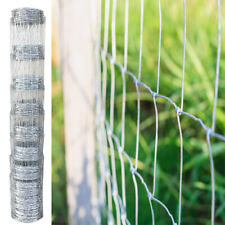 Fence Garden Wire Mesh Fencing Stock Livestrock Sheep Galvanised Silver 50m