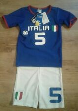 "Boys ""Italia"" rash vest and swim-shorts - age 2-3, SPF 40+ new with defects"