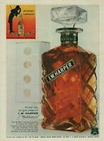 1959 I.W. Harper Solitaire Bourbon Whiskey Decanter Vintage Photo Print Ad