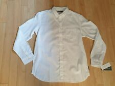 French Connection Long Sleeved Cotton Linen Shirt, White, XL, BNWT