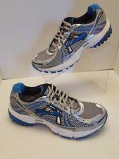 Brooks Adrenaline  GTS 12 Men's Size 7.5 D Silver Blue Athletic Running Shoe