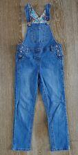 Mini Boden Girls Blue Denim Overalls Size 6-7 EUC