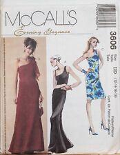 McCalls Sewing Pattern Evening Dress Elegance One Shoulder 12-18 3606 UNCUT