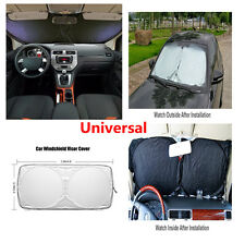 1pcs Silver Car Front Windshield Sunshade Sun Visors Cover Foldable Protector