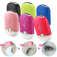 Mini Fan Air Conditioning USB Blower Eyelash Extension Glue Nail Art Drying US