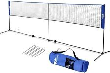 Amzeal 17 ft Portable Badminton Net Blue Volleyball and Tennis Net Adj. Ht New